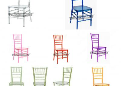 Todas sillas traslucidas