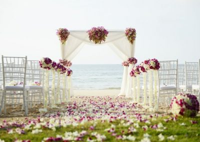 chaises mariage fleurs
